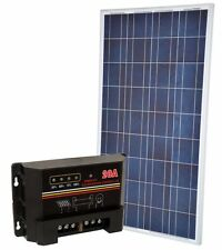 KIT Solare Fotovoltaico 150W 12V Poly + Regolatore PWM 20A Nautica Camper Baita