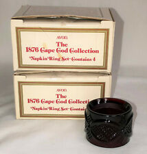 8 Avon Cape Cod Red* Napkin Rings W/Boxes*