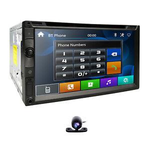 "Hizpo 7"" Car Stereo Radio DVD Player Sony Lens Double 2Din Bluetooth MP3 USB SWC"