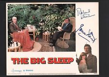 Robert Mitchum and James Stewart - Signed Autograph Lobby Card - The Big Sleep
