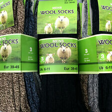 Men's Thermal Wool Socks Work Sports Thick Hiking Boot Socks Warm Winter UK 6-11