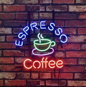"Espresso Coffee Display Restaurant Neon Sign Light Decor Coffee Shop Bar 17"""
