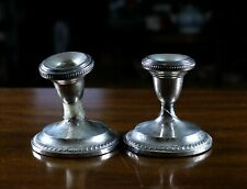"""Antique or Vintage Pair of Hamilton Sterling Weighted 329 Candlesticks 4"""" x 4"""""""