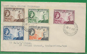 Northern Rhodesia 1953 sg 54-8 FDC Rhodes Centenary PM KITWE 30 May
