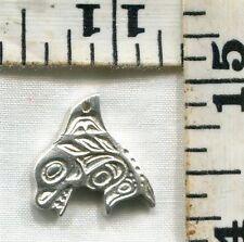 Vintage Sterling Bracelet Charm~#86487~Coastal Salish~Killer Whale~Just $12.99!