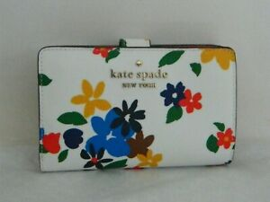 NWT KATE SPADE NEW YORK STACI SAILING FLORAL MD COMPACT BIFOLD WALLET WLR00417