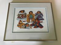 Barbara Lavallee 'Children of the North' 1993 Framed Hand Signed & Titled Print