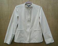 DKNY size pale sand coloured zip up 100% Cotton hip length jacket