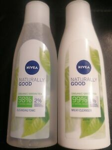 Nivea Naturally Good bundle cleansing tonic & milky cleanser 2x200ml