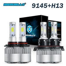 H13 LED Headlight Bulbs Hi Low+9145 H10 Fog Lights for 2005-2016 Ford F250 F350