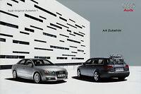 1568AU Audi A4 Zubehör Prospekt 2004 10/04 brochure accessories accessoires