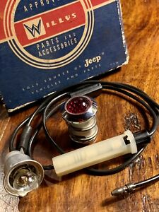 NOS Willys Jeep Super Wagoneer FSJ Gladiator EMERGENCY PARKING BRAKE LIGHT- DASH