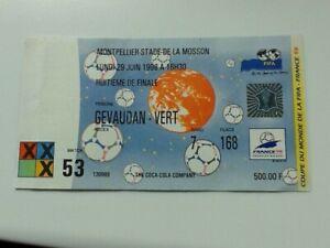 Ticket WM WC FRANCE 1998 Deutschland - MEXICO Match 53 Montpellier 1/8 Finale