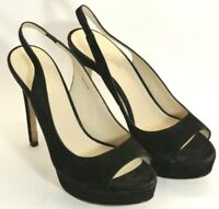New Pelle Moda Black Kid Suede women shoes, imported US size 9 1/2 M