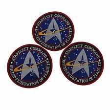 Star Trek Blue Starfleet Command UFP Embroidered Patch Set of 3