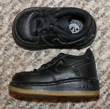 EUC! Baby Boys/Girls Nike Air Force 1 Low Basketball Shoes (Black) - Size 2 C