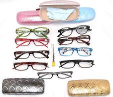 CLEARANCE Ladies Lot 2 READING EYE GLASSES, Cases, Repair Kit, Women +1.50