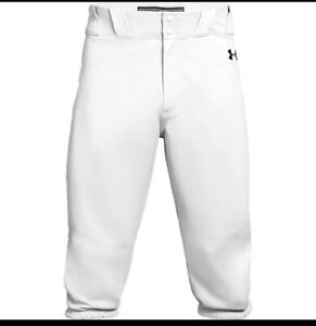 New Under Armour Adult Icon Knicker Baseball Pants Solid White - Large