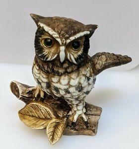 Vintage Homco Great Horned Owl Painted Ceramic Figurine #1114 Owl Statue