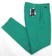 NWT! Nike Golf Modern Fit Flat Front Dri-Fit Pants Lucid Green Sz 28 x 32 $90.00