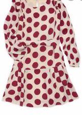 $520 New Burberry Girls Silk Polka Dot Lenka Dress Size 10
