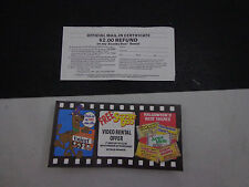 X    SCOOBY-DOO-UNICEF-JUNIOR MINTS-SUGAR DADDY-CANDY VIDEO OFFER COUPON BOOK