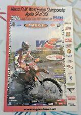 F.I.M. World Enduro Championship USA 2007 Hancock NY. Motorcycle Race ISDT  ISDE