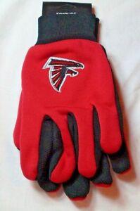 NFL Atlanta Falcons Utility Gloves Red w/ Black Palm by FOCO