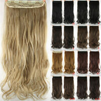 """Women Synthetic Long Hairs Curly 23""""Natural One Piece Clip in on Hair extensions"""