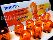 10pc Philips OEM T20 7440 AMBER Orange Indicator WY21W 12071CP light globe bulb