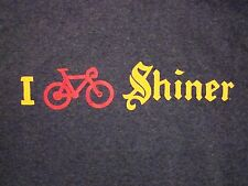 I Petal Peddle Shiner Texas Made Beers Great Austin GASP Cycle Bicycle T Shirt S
