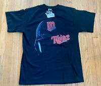 Minnesota Twins Vintage 90's Black Starter T Shirt NWT Medium MLB