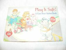 NEW Care Bears Vintage 1980s Pizza Hut Activity Book Coloring Stickers Bear -X
