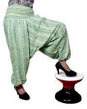 Women's Cotton Casual Afghani Striped Boho Hippie Harem Trousers Yoga Pants
