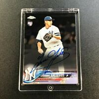 GIOVANNY GALLEGOS 2018 TOPPS CHROME #RA-GG AUTOGRAPH AUTO ROOKIE RC YANKEES