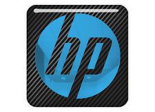 "HP Hewlett Packard 1""x1"" Chrome Domed Case Badge / Sticker Logo"