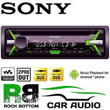 SONY CDX-G1102U 4 x 55W Car Stereo CD MP3 Radio USB AUX iPhone Player (GREEN)