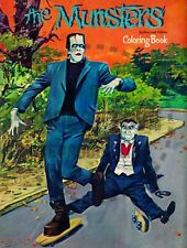 VINTAGE REPRINT - 1966 - THE MUNSTERS COLORING BOOK SAMPLER