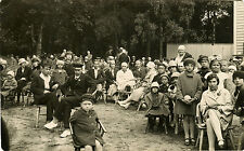 PEOPLE CHILDREN OUTING IN THE PARK ORIGINAL ca 1930s REAL PHOTO POSTCARD ESTONIA