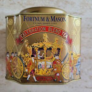 Vintage Empty Fortnum & Mason Tea Tin, 8.8 Oz, Queen's Golden Commemoration