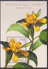 Malaysia 2001 Scented Flowers stamp MS Mint Unused
