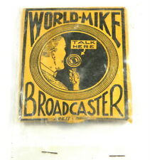 New listing Vintage World Mike Broadcaster Microphone For Ac or Dc Sets Unused