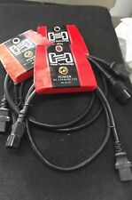 Hosa 3' IEC Power Extension Cord PWL-403 IEC C14 inlet to IEC C13 outlet