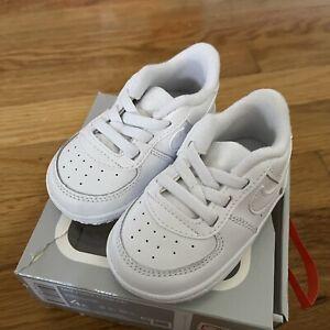 🔥Nike Force 1 Crib White/White CK2201 100  CB Baby Sneakers Size 4c