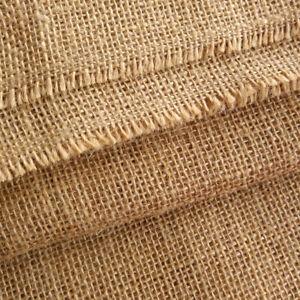 "Hessian Fabric Woven Natural Jute Burlap Garden Craft Sack Upholstery 40/54/72"""