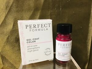 Perfect Formula Pink Gel Coat Color All-In-One Strengthens High Gloss .17 fl. oz