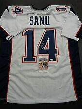 Mohamed Sanu New England Patriots Autographed Custom Style Jersey COA-JSA*