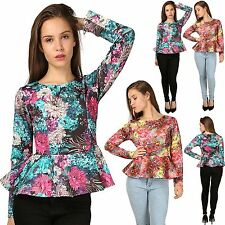 Blouse Viscose Long Sleeve Floral Tops & Shirts for Women
