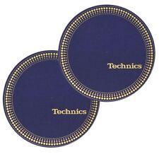 TECHNICS SLIPMATS (STROBO BLUE-GOLD) coppia panni sottodisco x giradischi