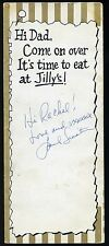 FRANK SINATRA SIGNED JILLY'S NYC MENU AUTOGRAPHED CIRCA 1960s RARE SIGNATURE WOW